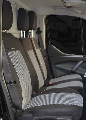 Seat covers for Vauxhall Vivaro  2001 - 2014 Tailored seat covers 2 + 1 grey2