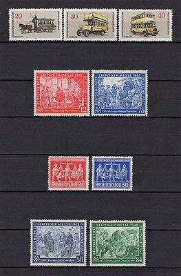 Germany 1973 Berlin Post Set With 1947 And 49 Leipzig Fair Sets Mnh/og