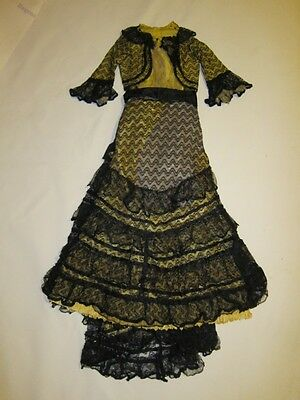 Yellow and Black Belle Epoque/Edwardian Antique Dress