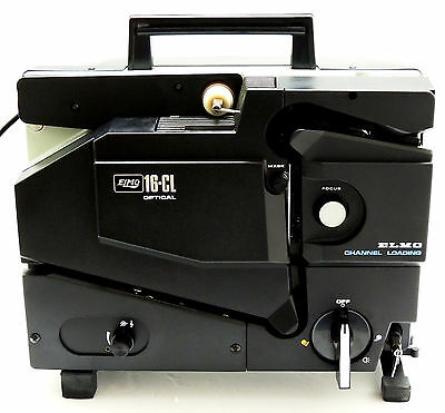 Vintage ELMO 16-CL Optical 16 MM Film Movie Projector w/ Box *Tested & Working