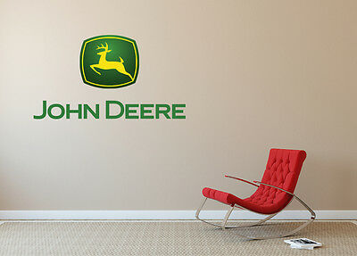 John Deere Wall Decal Logo Vinyl Art Construction Equipment EXTRA LARGE SA104 & JOHN DEERE WALL Decal Logo Vinyl Art Construction Equipment EXTRA ...