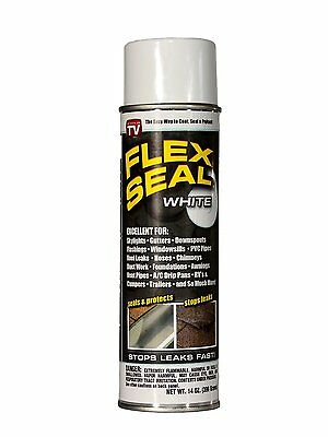 Flex Seal Spray Liquid White Rubber Sealant 14 Ounce As Seen On TV Seal Coating