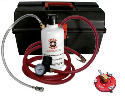 One Man Brake Bleeder PRO Kit for Toyota, Lexus, Scion with 42mm ID Filler Neck