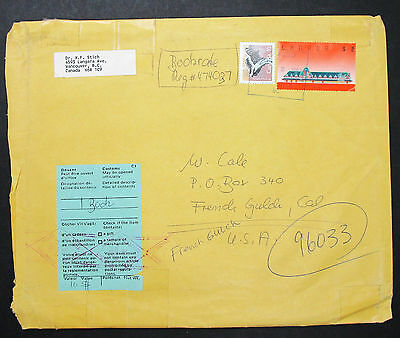 Canada Envelope Vancouver Skunk Railway Station Stamps $2 Kanada Brief (H-8491+