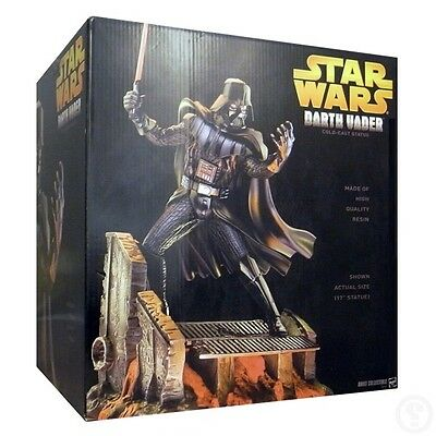 "Hasbro Star Wars Darth Vader Cold-Cast 17"" Resin Statue 2005 Limited Edition"