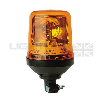Safety Rescue DIN Pole Mount Agriculture Halogen Rotating Flashing Amber Beacon