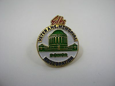 Vintage Collectible Pin: Elks Veterans Memorial Donor Restoration