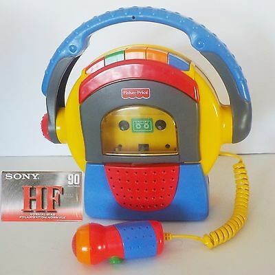 Fisher Price Tuff Stuff Tape Recorder Microphone Cassette Player - Tested Works