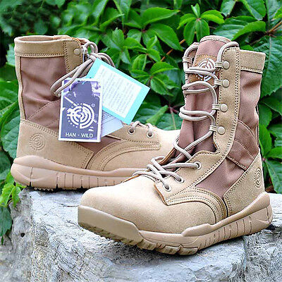 Men's Tactical Boots Military Combat Army Desert Outdoor patrol Training Comfy