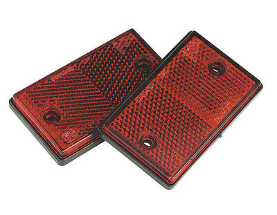 TB24 Sealey Reflex Reflector Red Oblong Pack of 2 [Towing Accessories]