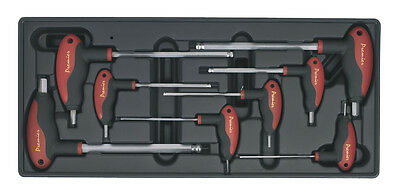 TBT06 Sealey Tool Tray with T-Handle Ball-End Hex Key Set 8pc [Tool Trays]