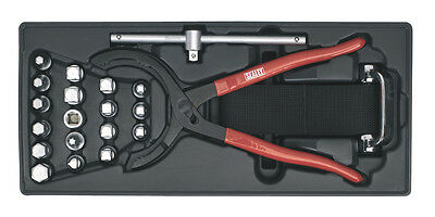 TBT28 Sealey Tool Tray with Oil Filter Wrench, Pliers & Drain Plug Set 21pc
