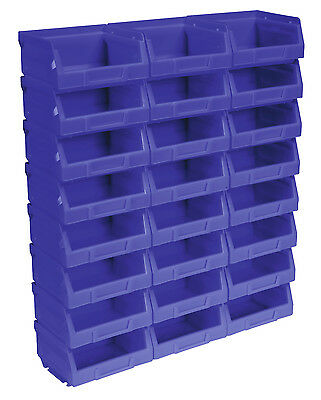 TPS124B Sealey Plastic Storage Bin 103 x 85 x 53mm - Blue Pack of 24