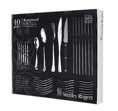 NEW STANLEY ROGERS 40 PIECE HAMPSTEAD CUTLERY GIFT BOXED SET Fork Knife Spoon