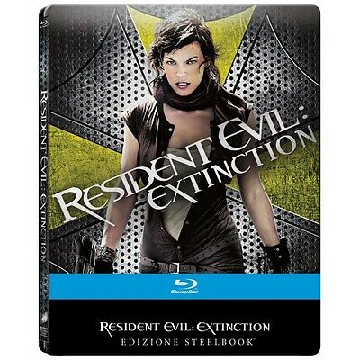 Resident Evil - Extinction (Ltd Steelbook) Film Blu-Ray Nuovo Di Russell-333505