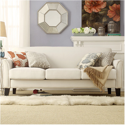 WHITE LINEN Living Room Coach Sofa Set Classy Modern - $840.24 ...