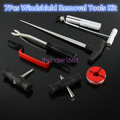 7 Pcs Automobile Windshield Removal Wind Glass Remover Heavy Duty Hand Tools Kit