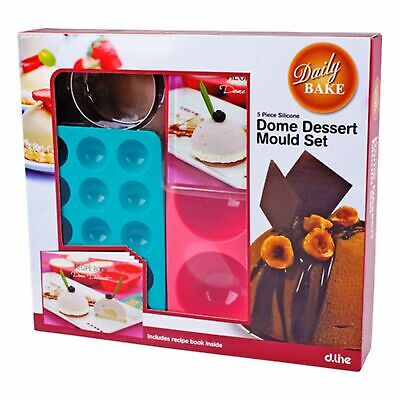 NEW SILICONE DOME DESSERT MOULD SET Cookie Mat Cake Pop Tray Bake Baking