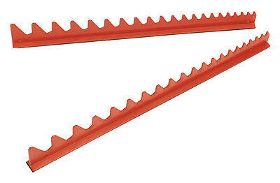 WR02 Sealey Sharks Teeth Spanner Rack Magnetic 2pc [Tool Storage]