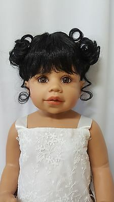 "NWT Monique Jennifer Black Doll Wig 16-17"" fits Masterpiece Doll(WIG ONLY)"