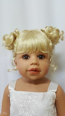 "NWT Monique Jennifer Pale Blonde Doll Wig 16-17"" fits Masterpiece Doll(WIG ONLY)"