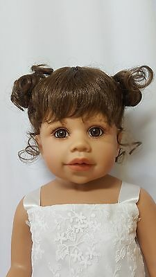 "NWT Monique Jennifer Brown Doll Wig 16-17"" fits Masterpiece Doll(WIG ONLY)"