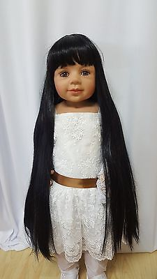"NWT Monique Raven Black Doll Wig 16-17"" fits Masterpiece Doll(WIG ONLY)"