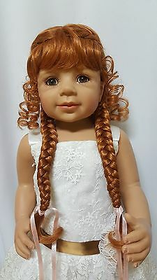 """NWT Monique Violet Carrot Doll Wig 16-17"""" fits Masterpiece Doll(WIG ONLY)"""