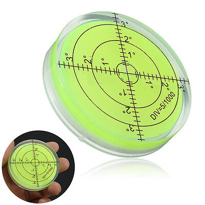 60x12mm Precision Green Disc Round Circular Bubble Spirit Level Measuring Tool