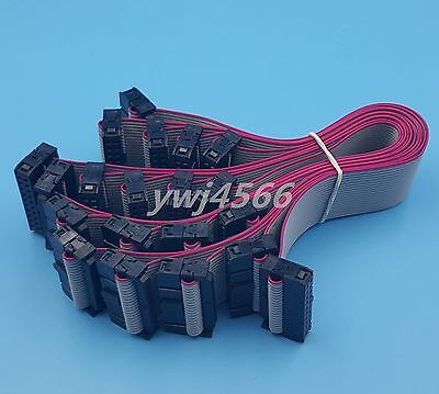 50Pcs  IDC 20Pin Hard Drive Data Extension Wire Flat Ribbon Cable Connector 20cm