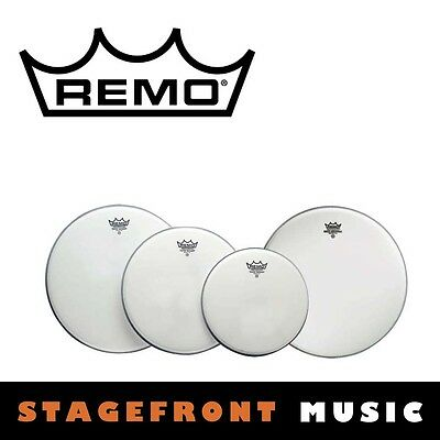 "Remo Coated Drum Head Pack Emperor Fusion Skins 10"", 12"", 14"" + 14"" Pp-1020-Be"