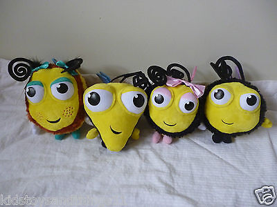 BUZZ BEE - Set of 4 The Hive BUZZBEE Bee Plush Soft Toys Dolls Brand New W Tag