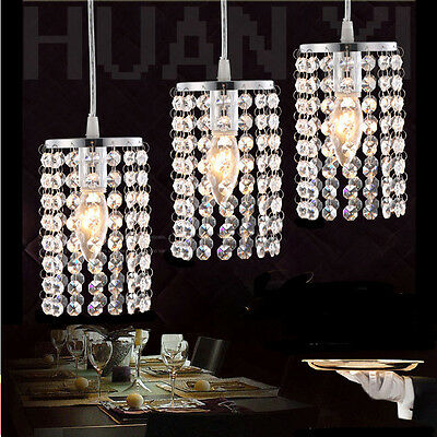 Modern Crystal LED Pendant Lamp Ceiling Lights Chandelier Bar/Aisle Light L005HC