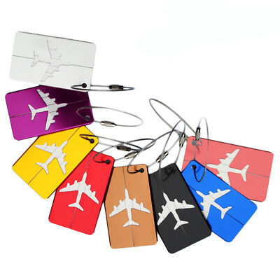 1pc Aluminium Travel Luggage Baggage Tag Suitcase Identity Address Name Labels