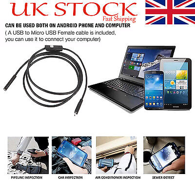 5.5mm 6LED Android Endoscope Waterproof Inspection Camera Micro USB Video Camera