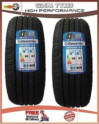 2 x 205/60R16 92V GENCO NEW 2 QUALITY TYRES.2055016 LOW PRICE BUDGET, NEW TYRE