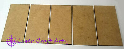 02mm MDF 100mm x 50mm bases 5 per pack suitable for Swordpoint and other games