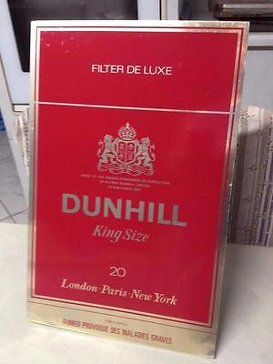 OLD VINTAGE RETRO 70s 80s DUNHILL CIGARETTE PACKET TOBACCO TIN SHOP SIGN MANCAVE