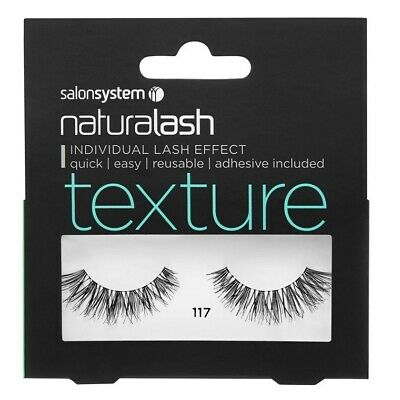 Salon System Naturalash Individual Lash Effect Strip Eyelash, 117 Black Texture