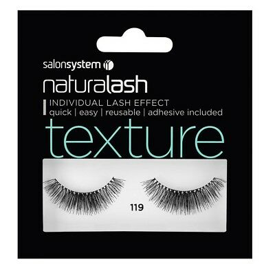 Salon System naturalash Individual Lash Effect Strip Eyelash, 119 Black Texture