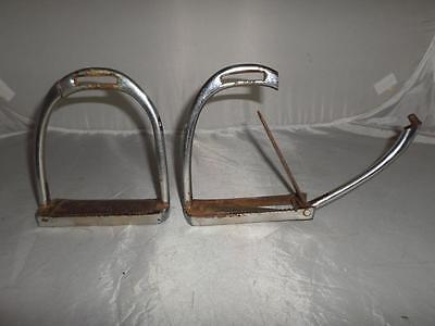 *antique Safety Irons -Foot Release Mechanism- Possibly Military Or Similar*