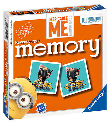 21281 Ravensburger Despicable Me Mini Memory Snap Pairs Game Children 3years+