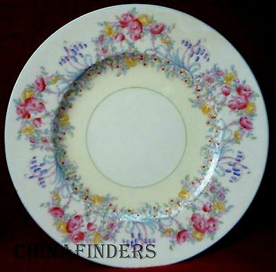 ROYAL WORCESTER china JUNE Z502/1 pattern England Dinner Plate - 10-1/2""