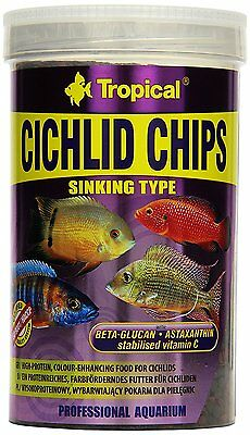 Tropical Cichlid chips  Colour-enhancing chips for cichlids 250ml 1000ml