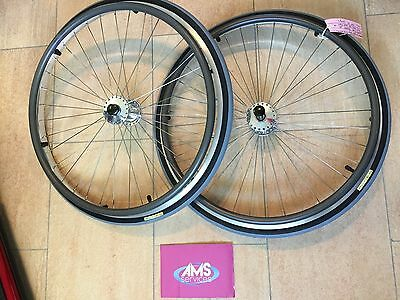 Titanium Rear Wheelchair Wheel & Push Rim Self Propelled, Propelling Lightweight