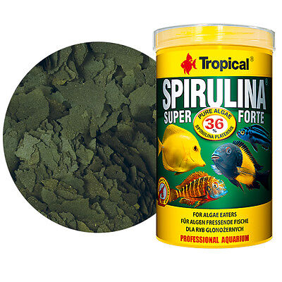Tropical SUPER SPIRULINA FORTE vegetable flakes (36%) 250 ml 1000ml