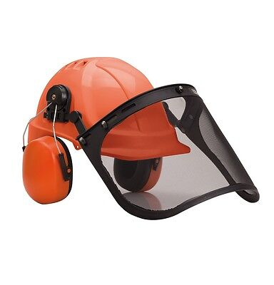Delta Plus Forestier2 Forestry Safety Helmet With Ear Defenders and Face Shield./