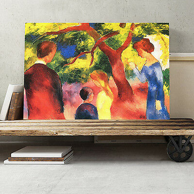30x20 Inch Canvas Print Picture Wall Art August Macke Family