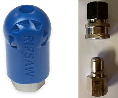 "Bundle -3 items: Ripsaw Rotating Turbo Nozzle (4.0), Male & Female 1/2"" Socket"