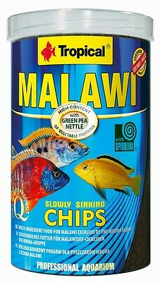 Tropical MALAWI CHIPS Food for Malawi cichlids of the mbuna group 250ml1000ml